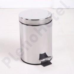 Balde lixo c/ pedal 5L acetinado
