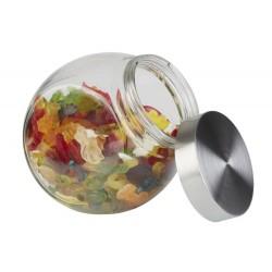 Potes de vidro com tampa de inox 1l