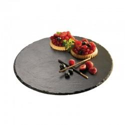 Prato de bolo base rotativa ardósias