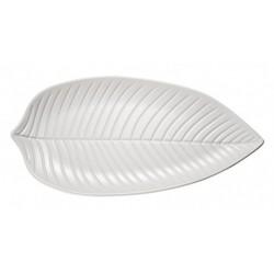 Prato em forma de folha branco NATURAL COLLECTION