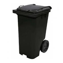 Contentor lixo 120 litros c/ pedal preto