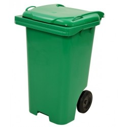 Contentor lixo 120 litros c/ pedal verde