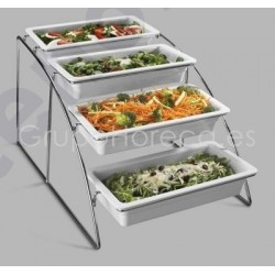 Expositor buffet para container GN 1/3
