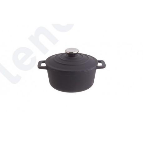 Caçarola de ferro fundo preta 4,2L