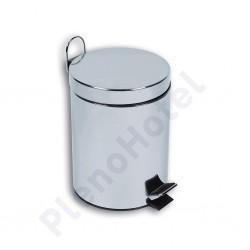 Balde lixo inox brilho 5L