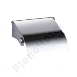 Suporte para rolos de papel higiénico com tampa inox acetinado