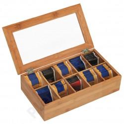 Caixa para chá de madeira