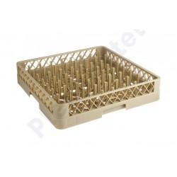 Cesto p/ pratos 64 pinos 50x50x10cm