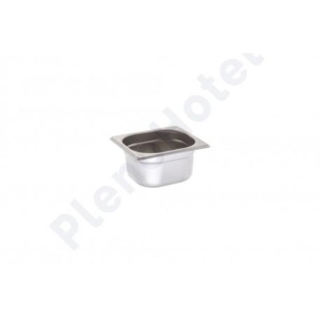 Container inox GN 1/6 com 6.5cm alt. 1.1Lt