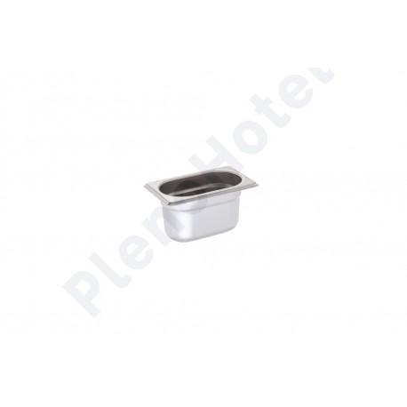 Container Inox GN 1/9 com 6,5cm alt. 0.7lt