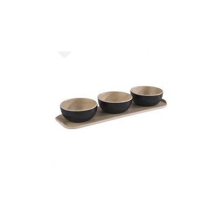 "Taça ""Frida"" preto e bege Ø8.5x3.5cm"
