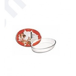 FUENTE HORNO OVAL KRISTALL 30X21X6 CM