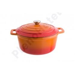 Caçarola ferro fundido lr 0,4lt - 11 cm – laranja