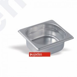 Gastronorm 1/6 inox 18/10 6,5cm altura