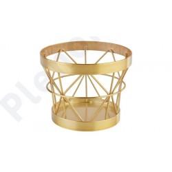 Cesto suporte lateral METALL com esteriscos dourado